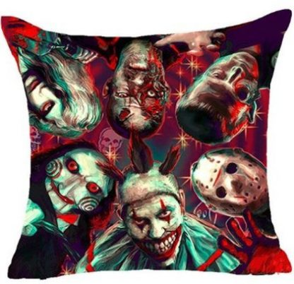 Horror Movie Collage Pillow Cover #3