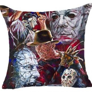 Horror Movie Collage Pillow Cover #4