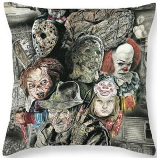 Horror Movie Collage Pillow Cover #5