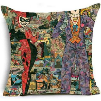 Harley Quinn & The Joker Pillow Cover #2