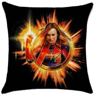 The Avengers Captain Marvel Pillow Cover #2