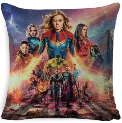 The Avengers Captain Marvel Pillow Cover #3