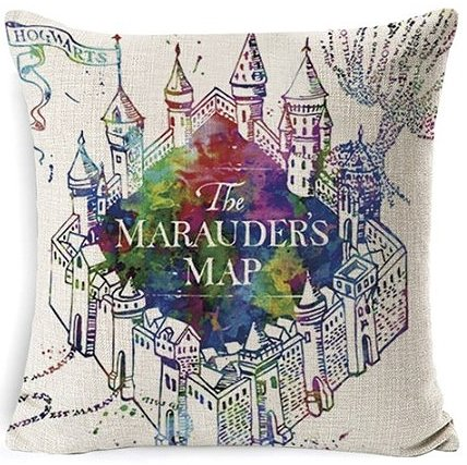 Harry Potter Marauders Map Pillow Cover #1
