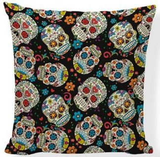 Day of the Dead Sugar Skull Pillow Cover #6