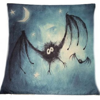 A Little Bat-ty Pillow Cover