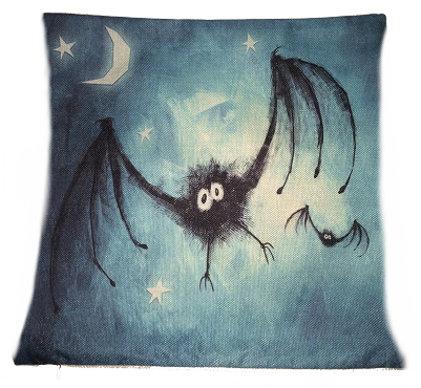 A Little Bat-ty Pillow Cover