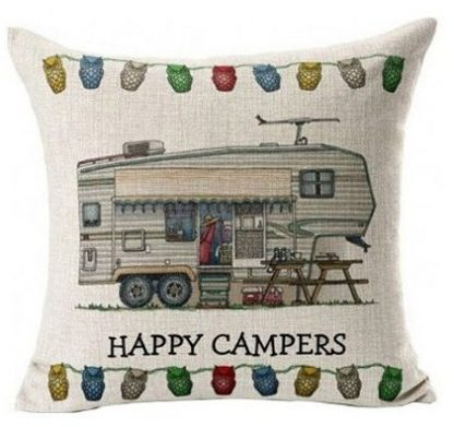 Happy Campers Pillow Cover #2