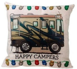 Happy Campers Pillow Cover #3