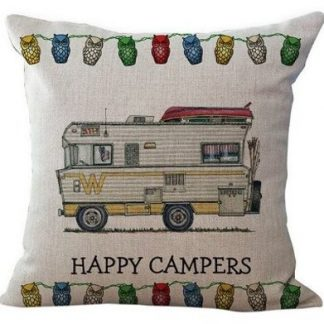 Happy Campers Pillow Cover #4