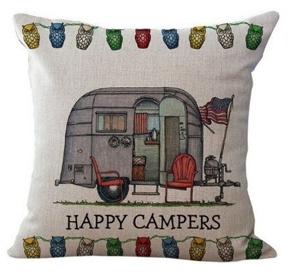 Happy Campers Pillow Cover #13