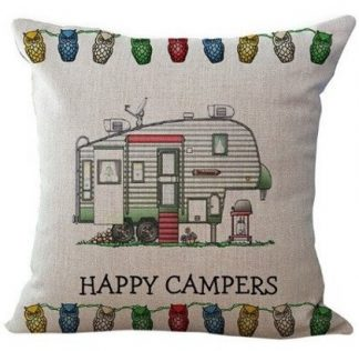 Happy Camper Pillow Cover #1