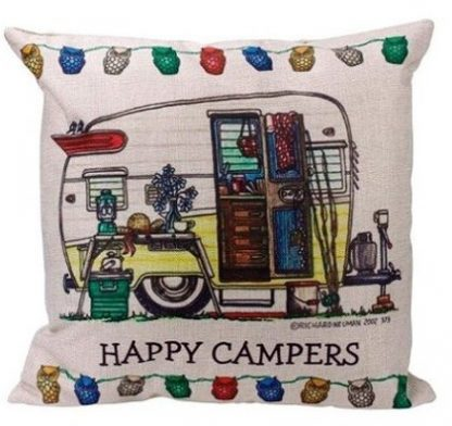 Happy Campers Pillow Cover #6