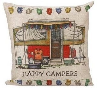 Happy Campers Pillow Cover #17