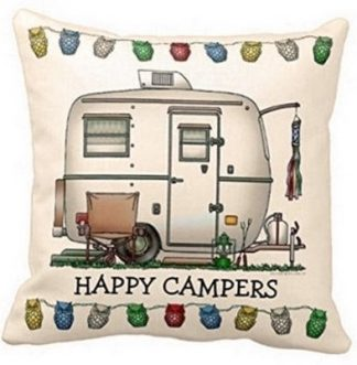 Happy Campers Pillow Cover #7