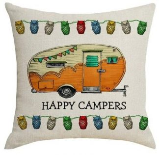 Happy Campers Pillow Cover #8
