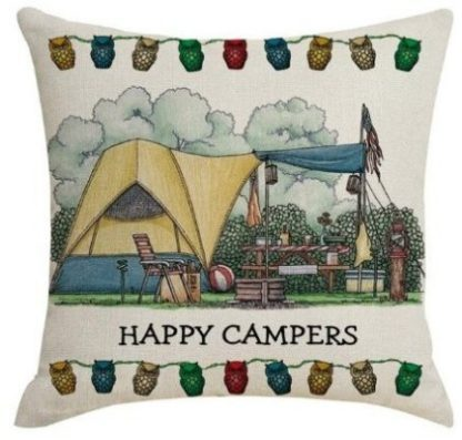 Happy Campers Pillow Cover #19