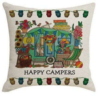 Happy Campers Pillow Cover #9