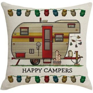 Happy Campers Pillow Cover #05