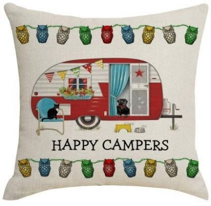 Happy Campers Pillow Cover #11