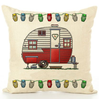 Happy Campers Pillow Cover #12