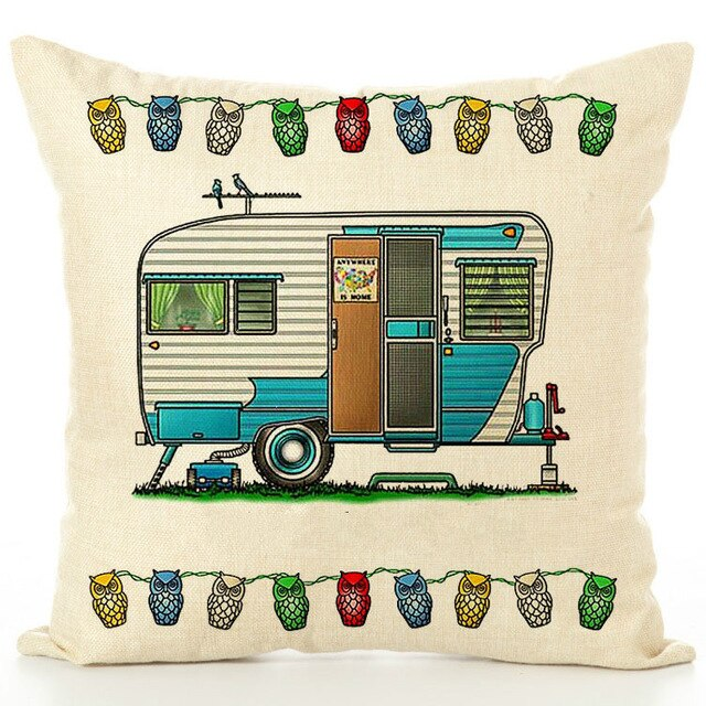 Happy Campers Pillow Cover #14