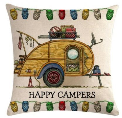 Happy Campers Pillow Cover #15