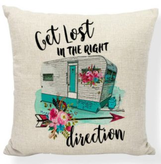 Lost in the Right Direction Pillow Cover