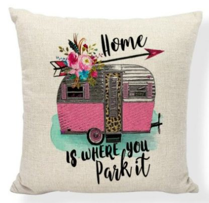 Home Is Where You Park It Pillow Cover #2