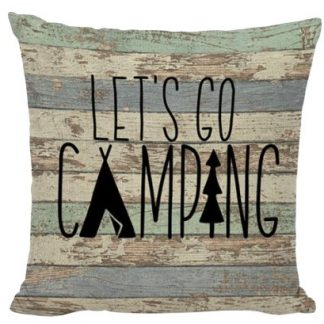 Let's Go Camping Pillow Cover