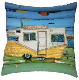 Vintage Camper Art Pillow Cover #1
