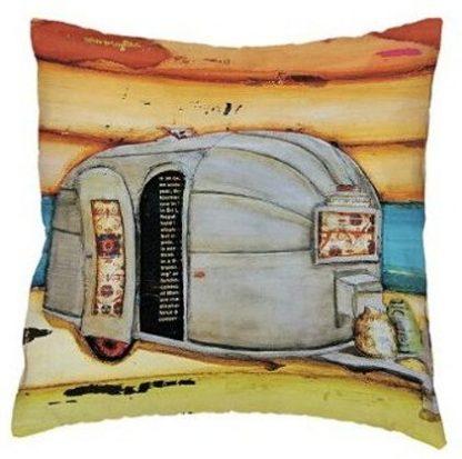 Vintage Camper Art Pillow Cover #4