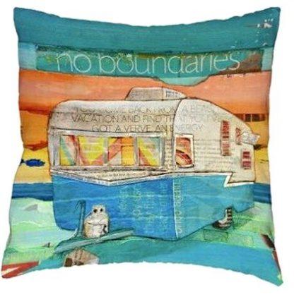 Vintage Camper Art Pillow Cover #2