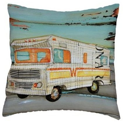 Vintage Camper Art Pillow Cover #3