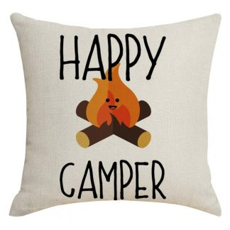 Happy Campers Pillow Cover #22