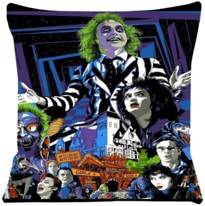 Beetlejuice Pillow Cover