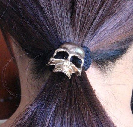 Skull Ponytail Holder