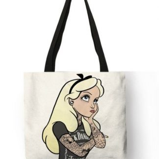 Naughty Princess Alice in Wonderland Tote Bag