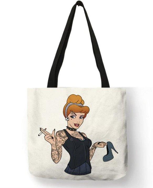 Naughty Princess Cinderella Tote Bag