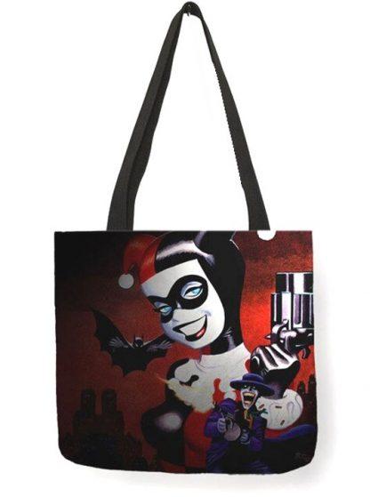 Harley Quinn & The Joker Tote Bag #1