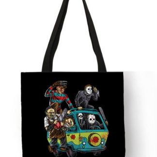Horror Movie Scooby Gang Tote Bag