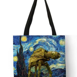 Star Wars Starry Night AT-AT Tote Bag