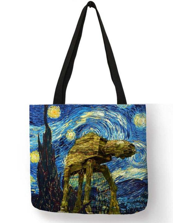 Star Wars Starry Night AT-AT Tote Bag