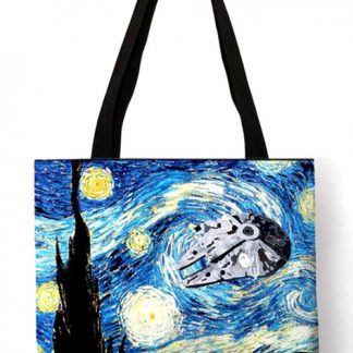 Star Wars Starry Night Millennium Falcon Tote Bag