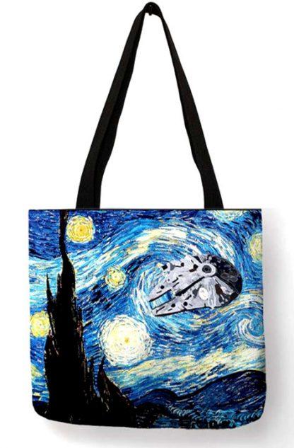 Star Wars Starry Night Millennium Falcon Tote Bag
