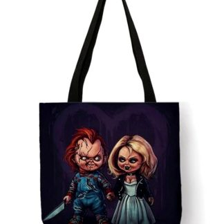 Child's Play Chuckie & Tiffany Tote Bag