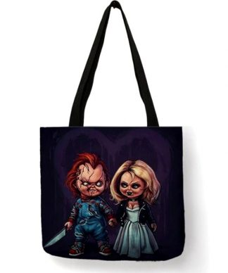 Child's Play Chuckie & Tiffany Tote Bag