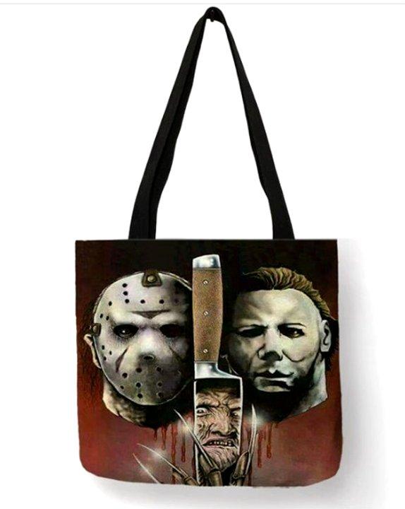 Horror Movie Triple Threat Tote Bag