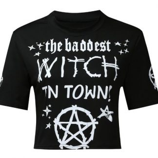Baddest Witch In Town Crop Top