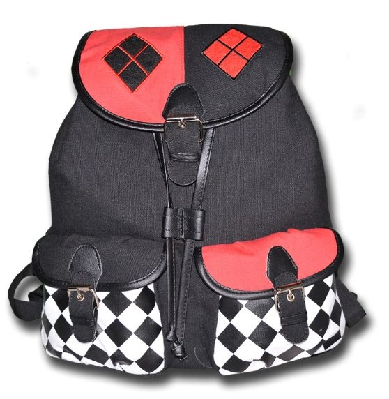 Harley Quinn Canvas Backpack