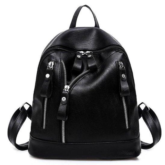 Biker Jacket Style Backpack